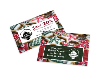 Christmas Bakery Card Template preview