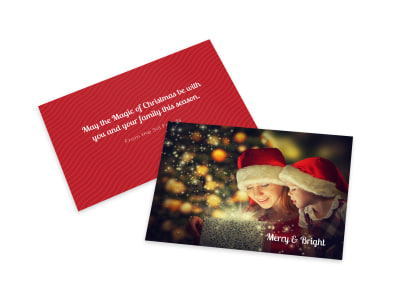 Merry & Bright Card Template preview