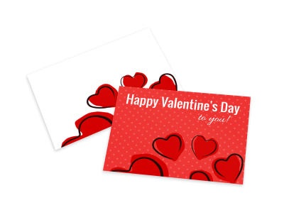 Heart Valentine's Day Card Template preview