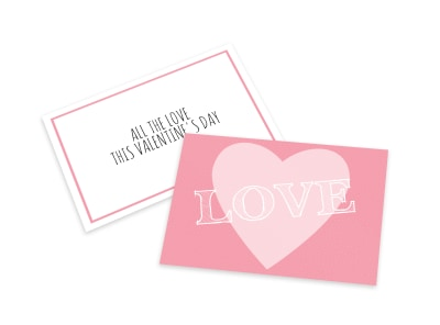 Valentine's Day All Love Card Template preview