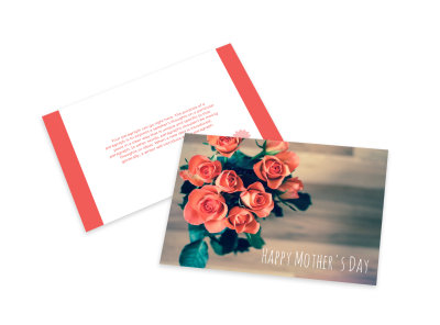 Mother's Day Floral Card Template preview