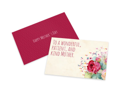 Kind Mother's Day Card Template preview