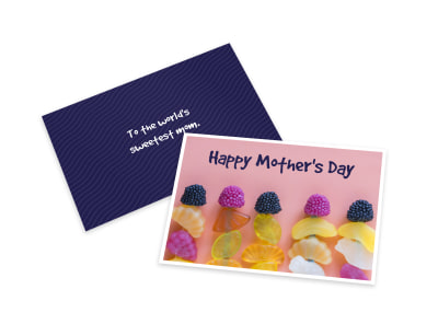 Delicious Mother's Day Card Template preview