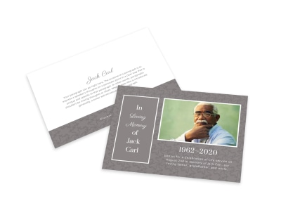 Memorial In Loving Memory Card Template preview