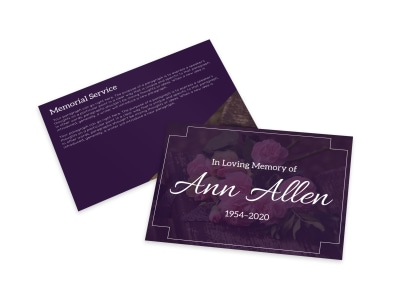 Memorial Card Template x17gp52oy4 preview