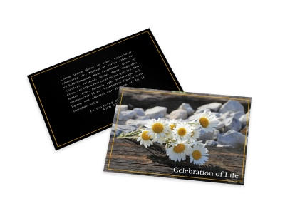 Celebration Of Life Card Template zsn4fdhgv7 preview