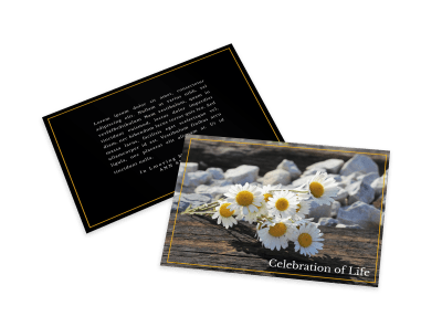 Memorial Cards Template Preview