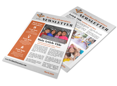 Elementary School Newsletter Template preview