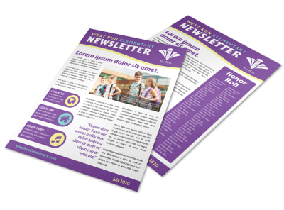 Awesome School Newsletter Template preview