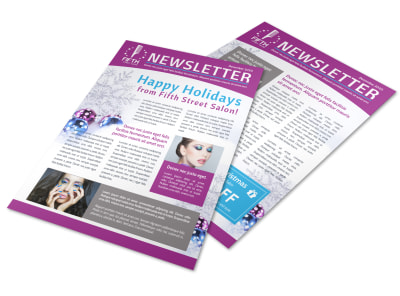 Salon Christmas Newsletter Template preview