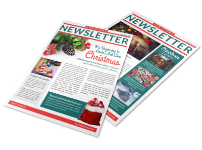 Elegant Christmas Newsletter Template preview