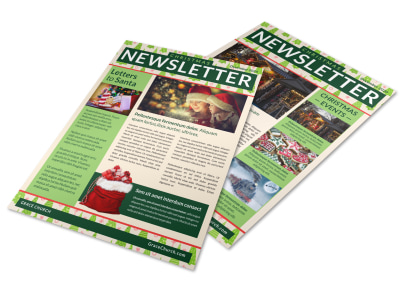 Christmas Tree Newsletter Template preview