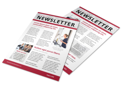 Classic Business Newsletter Template preview