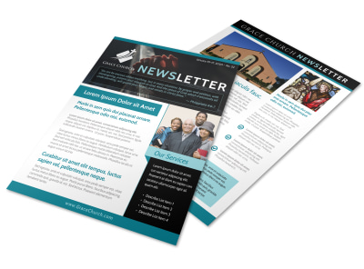 Modern Church Newsletter Template preview