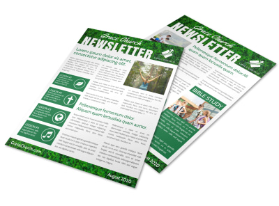 Green Church Newsletter Template preview