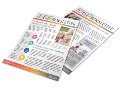 Fun Teacher Newsletter Template preview