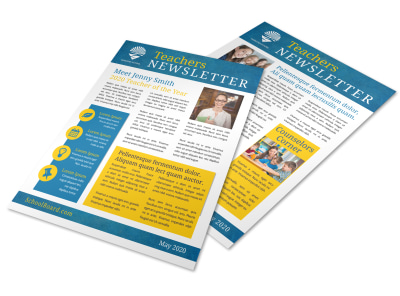 Simple Teacher Newsletter Template preview