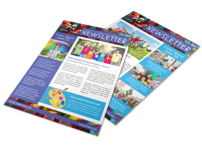 Playful Daycare Newsletter Template 2 preview