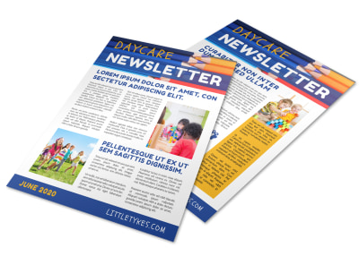 Cool Daycare Newsletter Template preview
