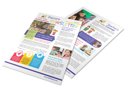 Awesome Daycare Newsletter Template preview