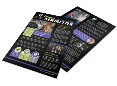 Dark Fitness Newsletter Template preview