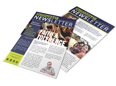 Faith Missionary Newsletter Template preview