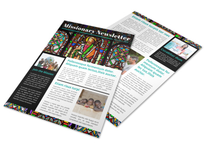 Classic Missionary Newsletter Template preview