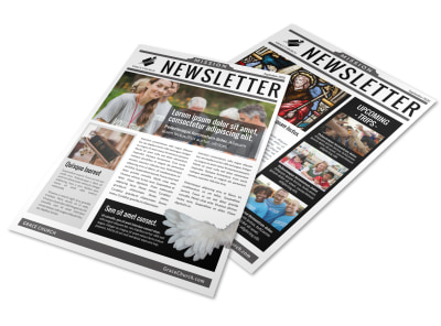 Church Mission Newsletter Template preview