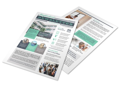 Neighborhood Apartment Newsletter Template preview
