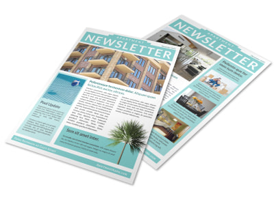Vibrant Apartment Newsletter Template preview