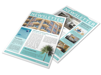 Property Management Newsletters Template Preview