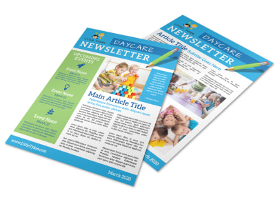 Monthly Daycare Newsletter Template preview