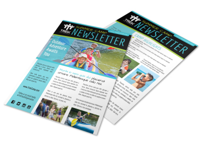 Summer Camp Adventure Newsletter Template preview