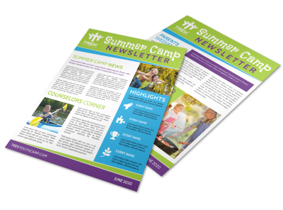 Summer Camp Newsletters Template Preview