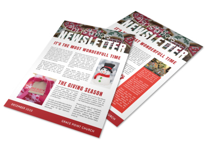 Cheerful Christmas Newsletter Template preview
