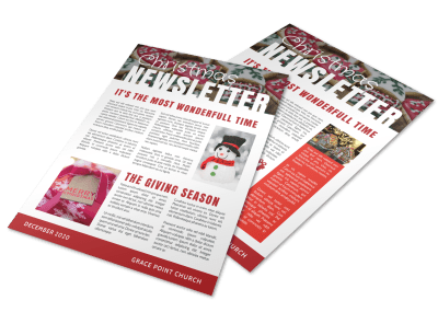 Holiday Newsletters Template Preview