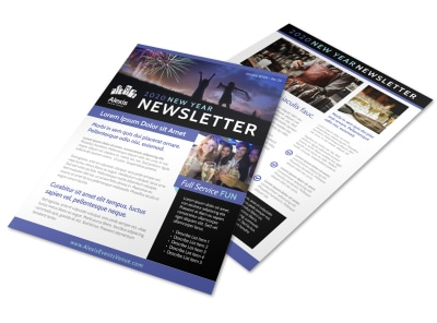 Annual New Year's Newsletter Template preview