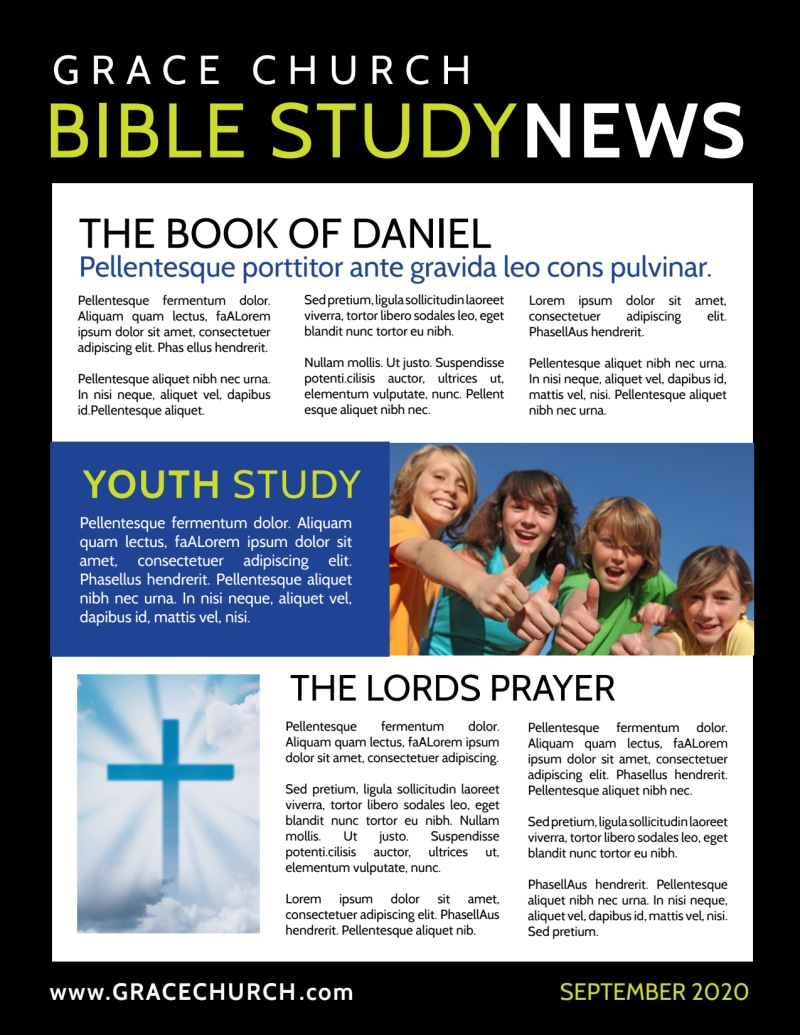 Church Bible Study Newsletter Template Preview 3