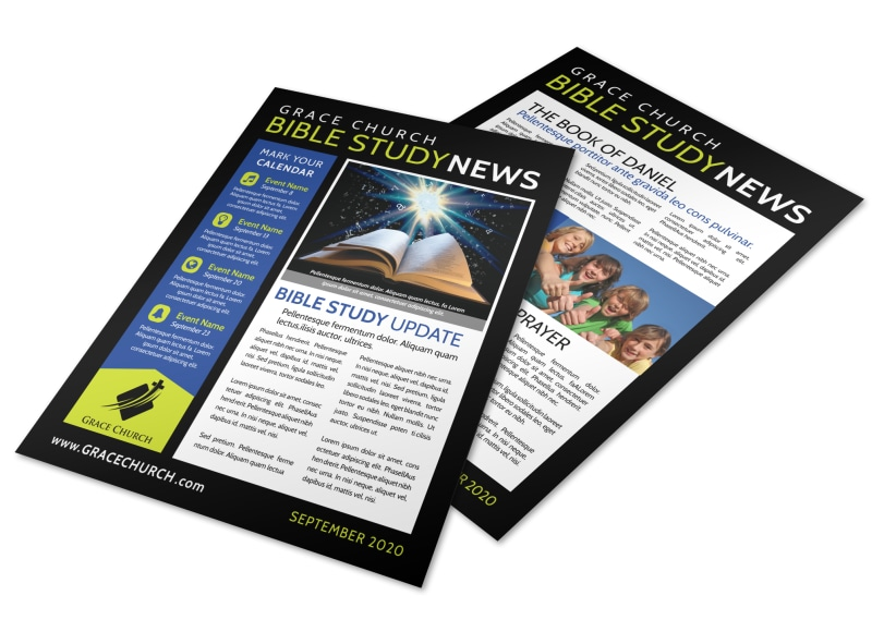 Church Bible Study Newsletter Template Preview 4