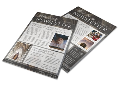Classic Bible Study Newsletter Template preview