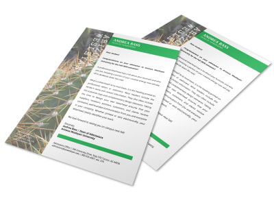 Cactus Letterhead Template preview