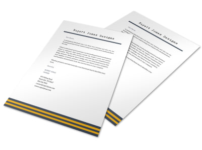 Stripes Letterhead Template preview