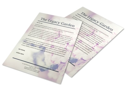 Floral Letterhead Template preview