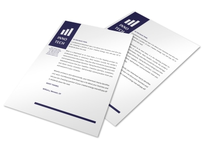 Tech Letterhead Template preview