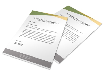 School Letterhead Template preview