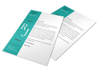 Left Stripe Letterhead Template preview