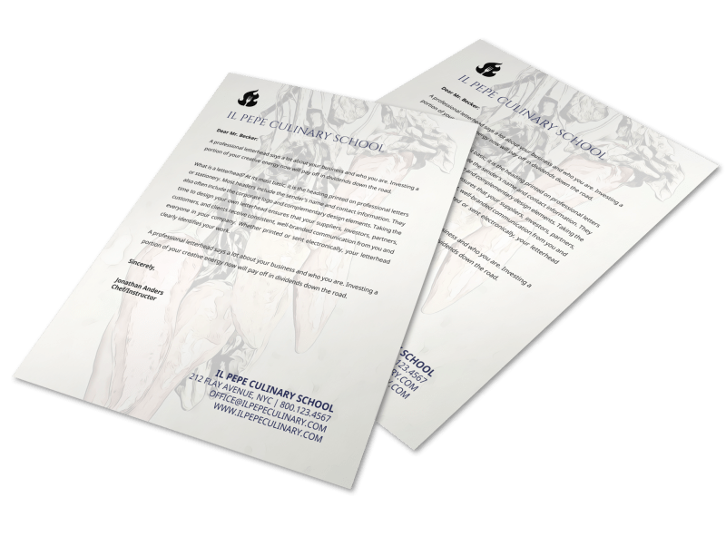 Culinary Letterhead Template Preview 1