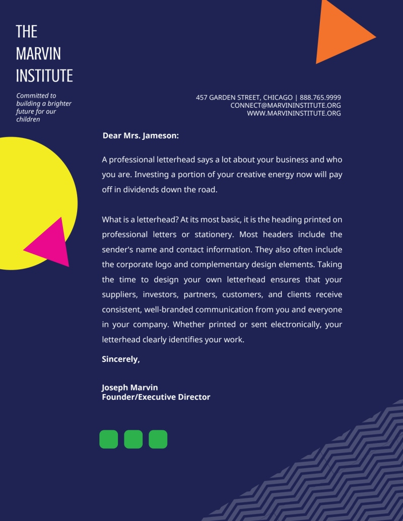 Creative Shape Letterhead Template Preview 2
