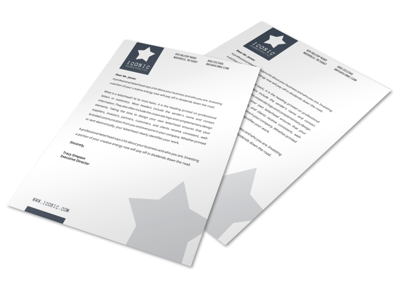 Star Letterhead Template Preview 1