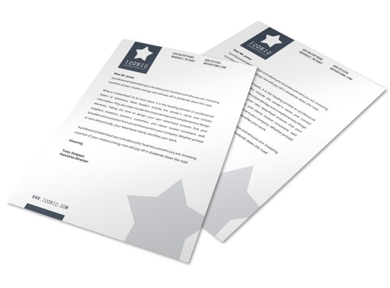 Star Letterhead Template Preview 3